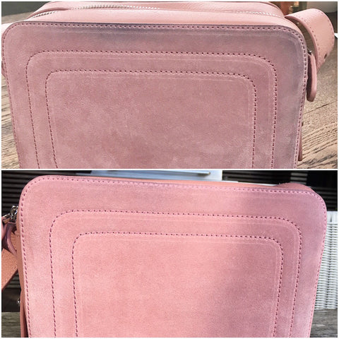 How to remove dye transfer off suede bag