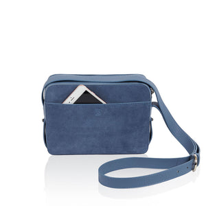 Dylan Crossbody Bag with Built-in Phone Charger - Dusty Blue | Low Stock