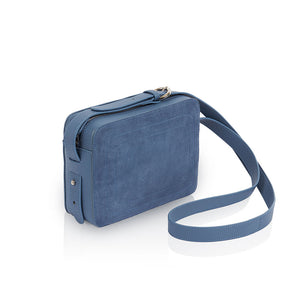 Dylan Crossbody Bag with Built-in Phone Charger - Dusty Blue