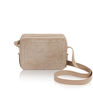 Dylan Crossbody bag with Built-in Phone Charger - Taupe