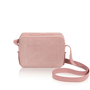 Dylan Crossbody Bag with Built-in Phone Charger - Dusty Rose