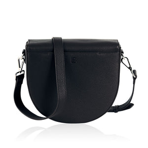 Black leather charging bag inbuilt phone charger Lorna & Bel
