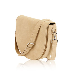 Ava Crossbody Bag with Built-in Phone Charger - Sand Suede LOW STOCK