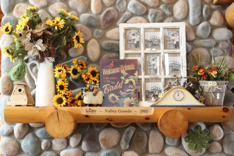 Spring Sunflower Mantel Decor Idea