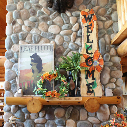 Summer Cabin Mantel Display at The Red Geranium in Mauston