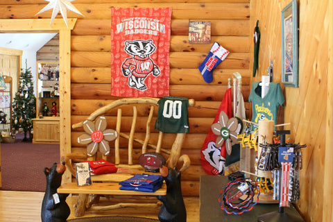 Packers and Badgers Gifts at The Red Geranium in Mauston Wisconsin