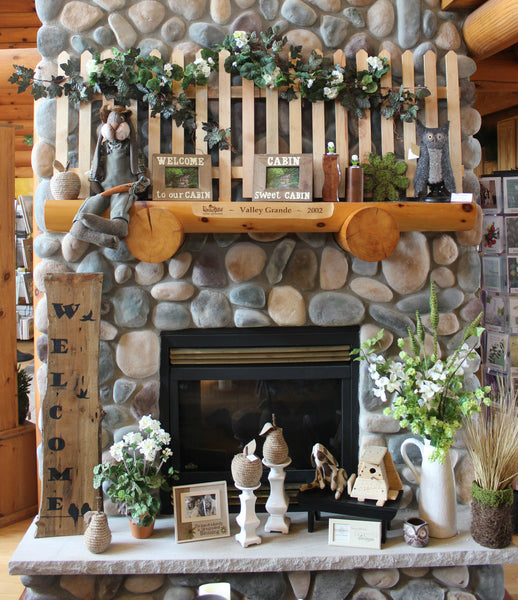 Spring Mantel Decor Idea