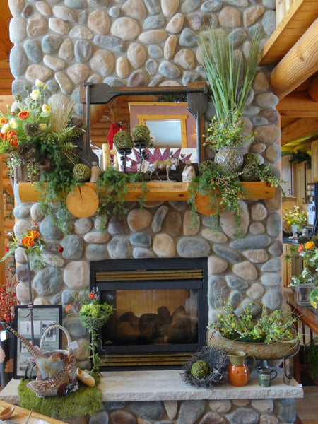Late Spring Early Summer Mantel Decor Idea