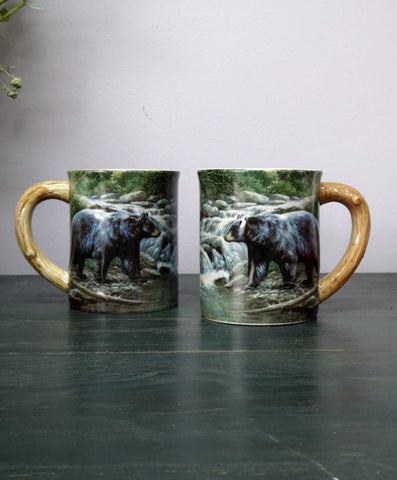 Black Bear Mug Set