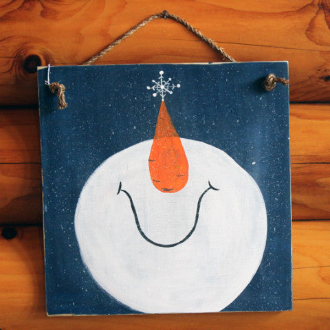 DIY Party - Paint Your Own Snowman Sign!