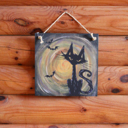 Paint Party - Halloween Cat Sign