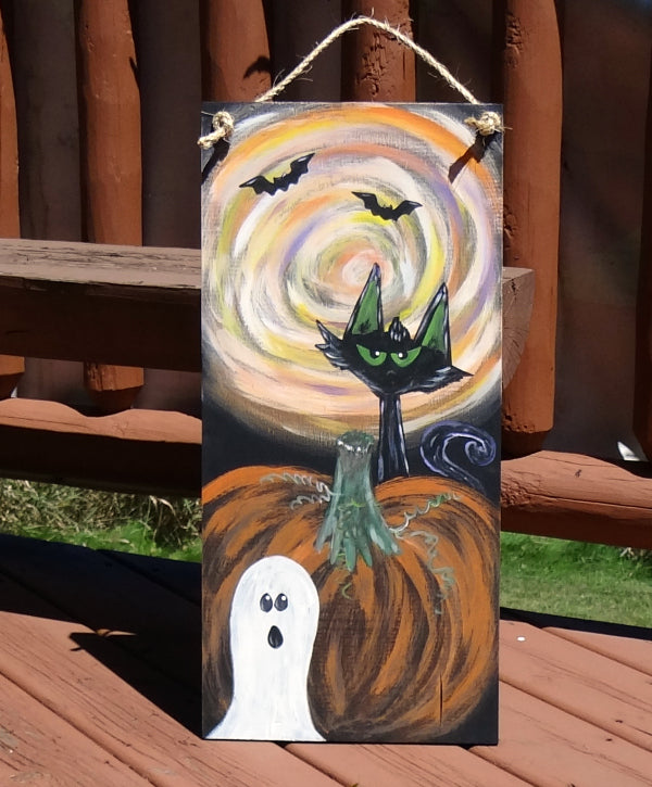 Paint Party - Halloween Cat & Ghost Board