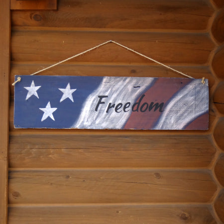 "Paint Party - Hanging ""Freedom"" Board"