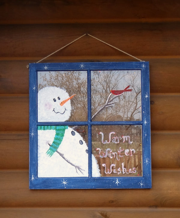 Paint Party - Snowman Window