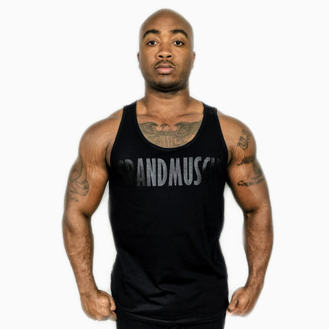 Tank Top - Black and Black Logo 2019