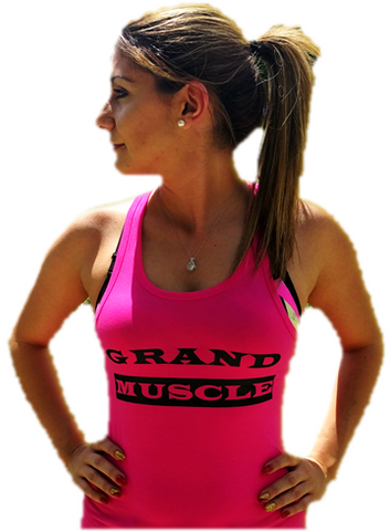 Tank Tops - Pink and Black Logo