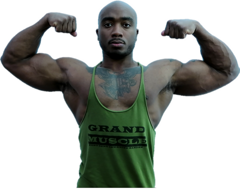 Stringer Tank - Army Green & Black