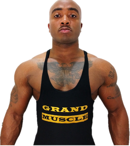 Stringer Tank - Black & Metallic Gold