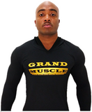Fitted Hoodie - Black & Metallic Gold