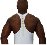 Stringer Tank - White & Metallic Gold