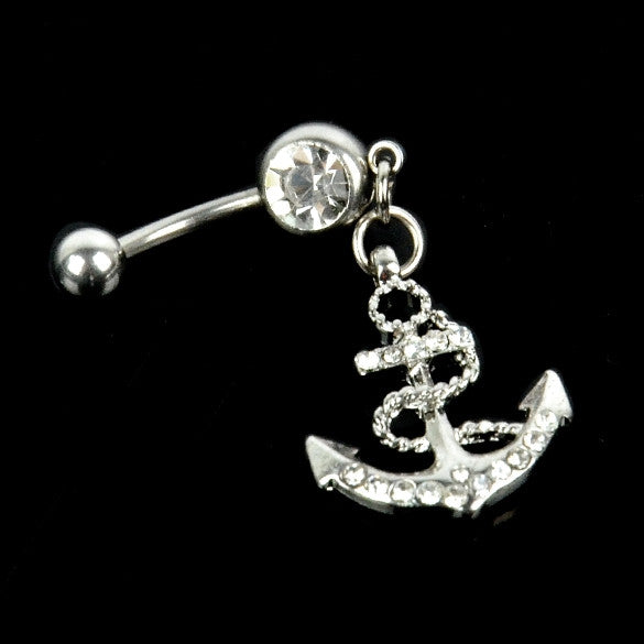 Anchor Style Belly Body Piercing Dangle Navel Ring - Sins & Temptations
