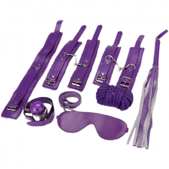 7Pcs Fetish Sexy Bondage Love Cuffs System Set - Sins & Temptations
