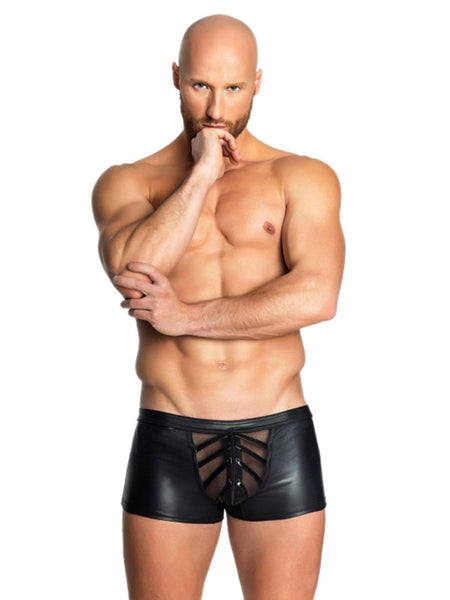 Black Sexy Faux Leather Mens RolePlay Bottom - Sins & Temptations
