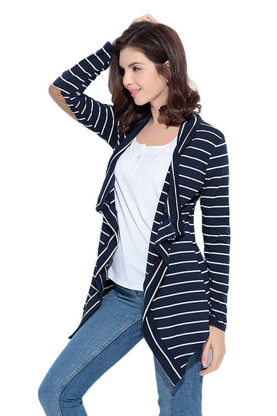 Classic Shawl Elbow Patch Cardigan Long Sleeve Jacket - Sins & Temptations