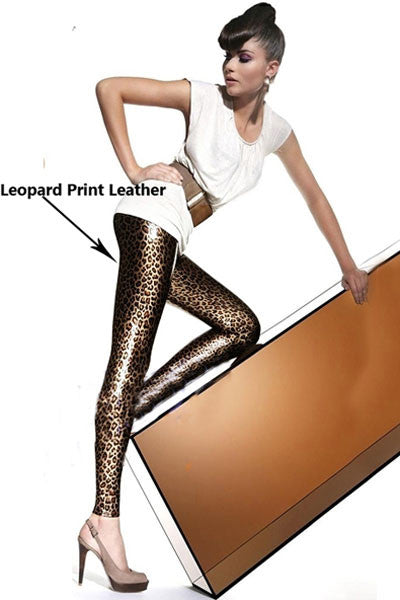 Leather Leopard Printed Leggings - Sins & Temptations
