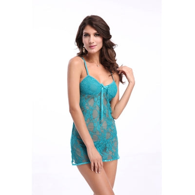 Sexy Green Straps Seductive Deep V Transparent Babydoll Hot - Sins & Temptations