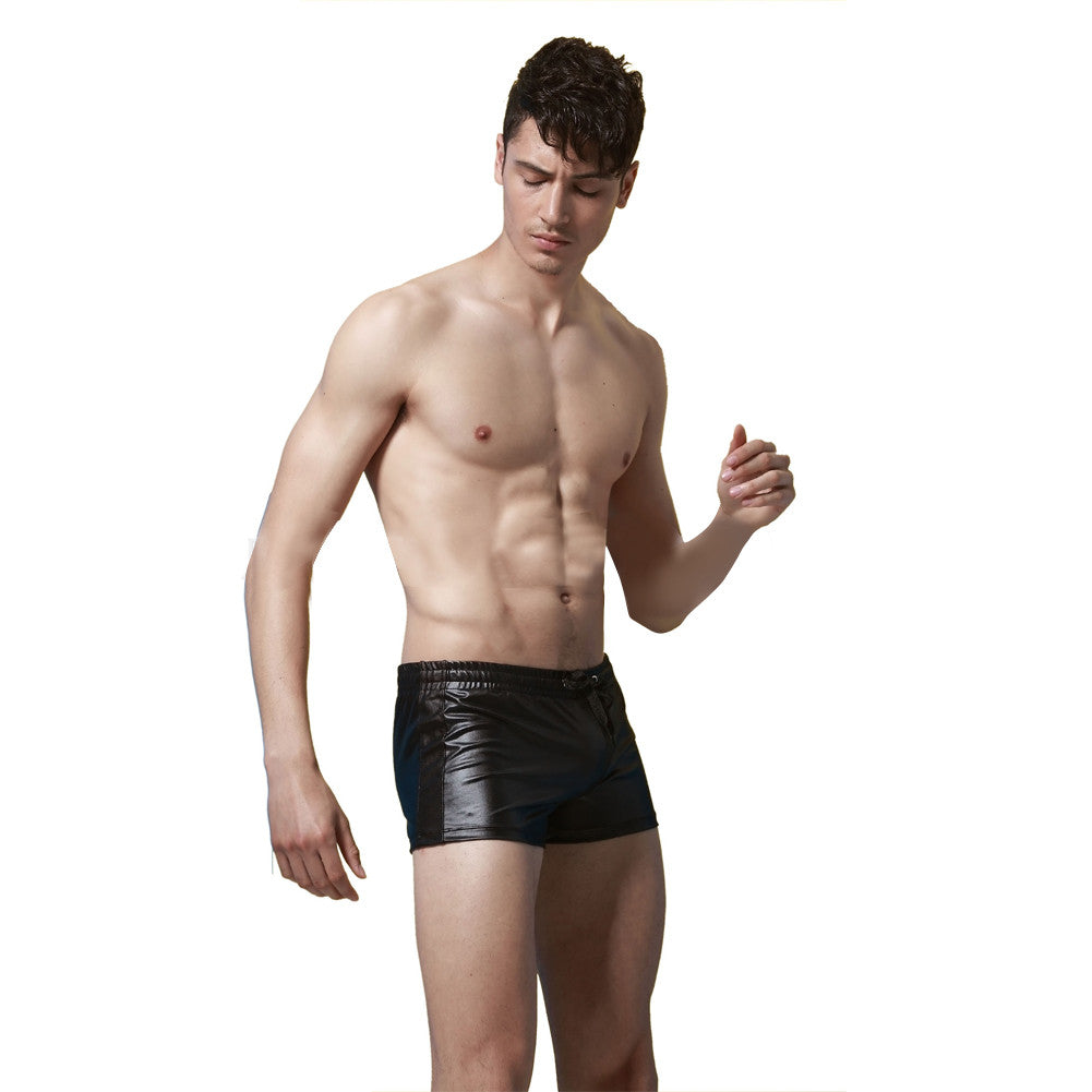 Black Faux Leather Mens Insurgent Sport Underwear - Sins & Temptations