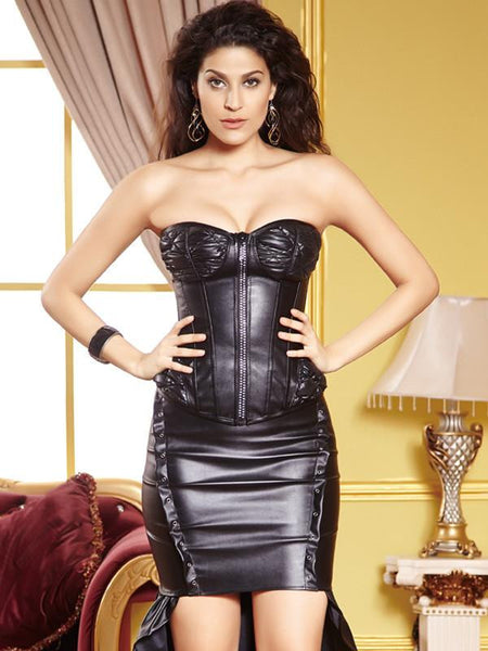 Faux Leather Women Corset - Sins & Temptations