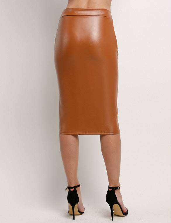 Premium Quality Faux Women Leather Skirt - Sins & Temptations
