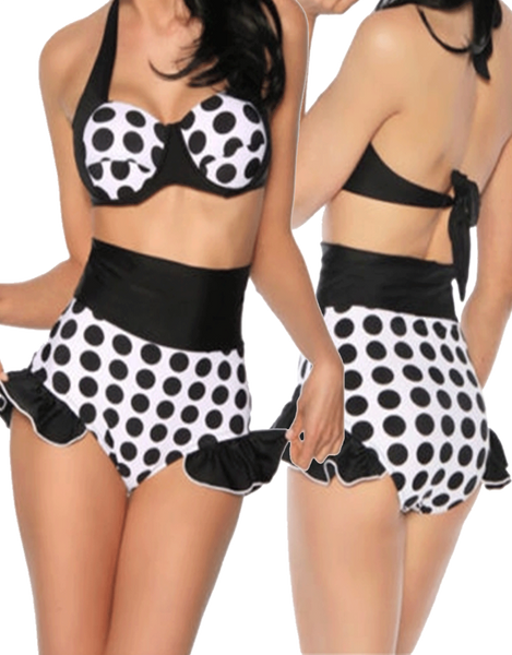 Polka Dotted Two Piece Women Bikini Swimwear Lingerie - Sins & Temptations