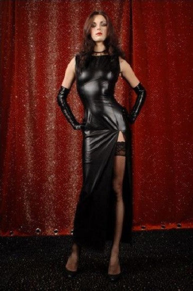 Sexy Gothic Style Faux leather Clubwear Gown - Sins & Temptations