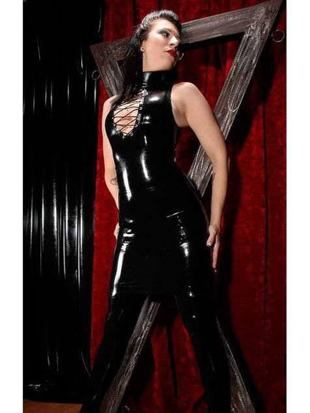 Hot Sexy Jumpsuits Black Leather Catwoman Costume - Sins & Temptations