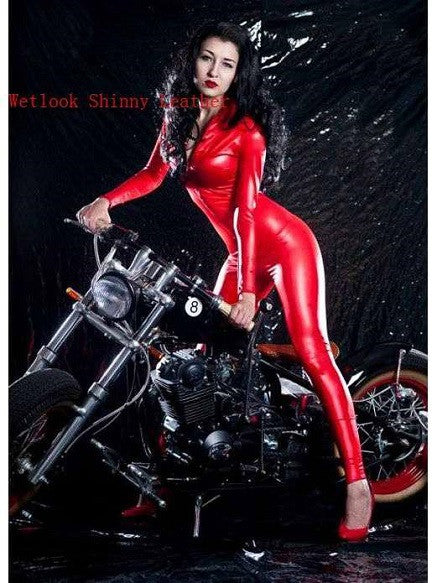Sexy Leather Catsuit - Sins & Temptations