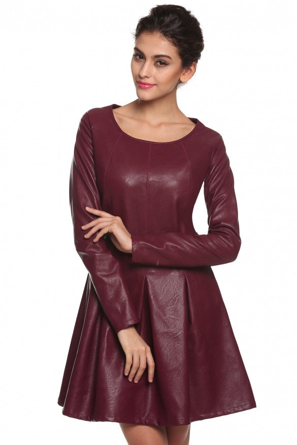 One Piece Womens Faux Leather dress - Sins & Temptations