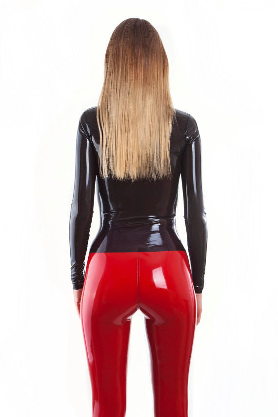 Pure Latex top with long sleeves Latex Shirt high Neck Sexy Latex Rubber - Sins & Temptations