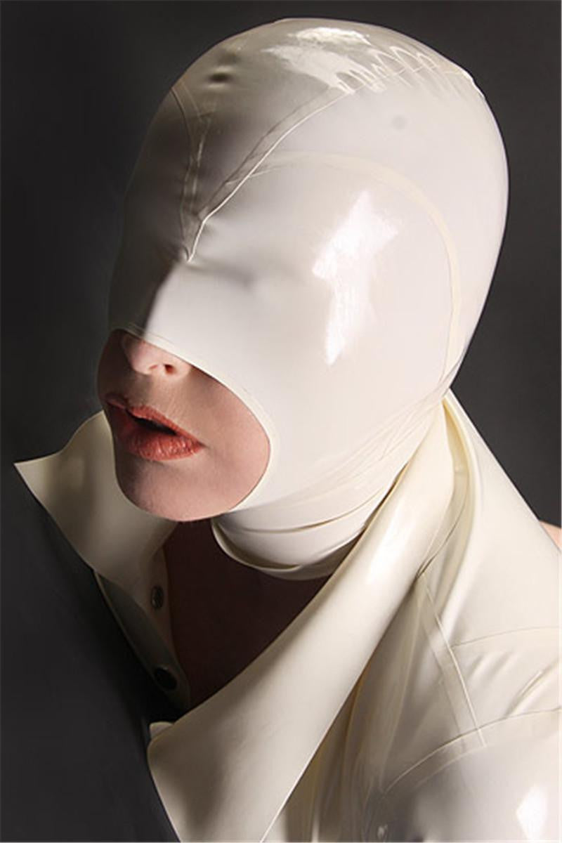 Natural Latex Fetish Bondage Hoods With Metal Zip - Sins & Temptations