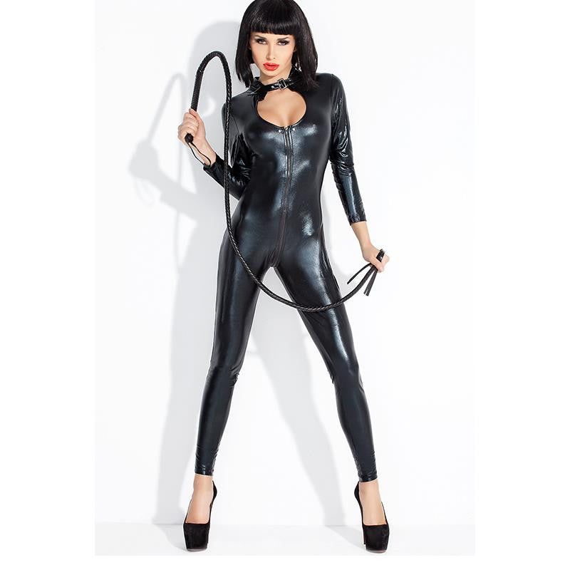 Lady Black Leather Latex Kinky Catsuits - Sins & Temptations
