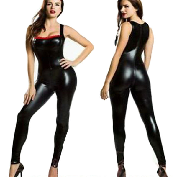 Black Vinyl Catsuit - Sins & Temptations