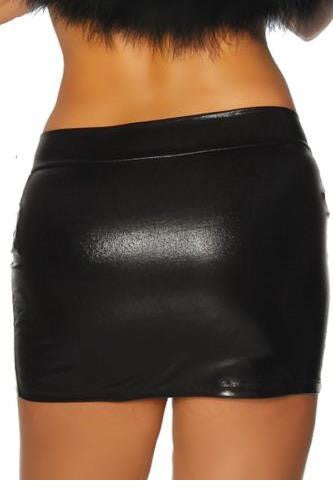 Kinky Faux Leather Skirt - Sins & Temptations