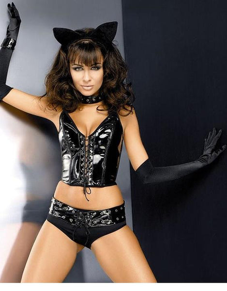 Black Lingerie Obsessive Pussy Cat Costume - Sins & Temptations