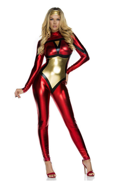 Christmas Costume Latex Catsuit - Sins & Temptations