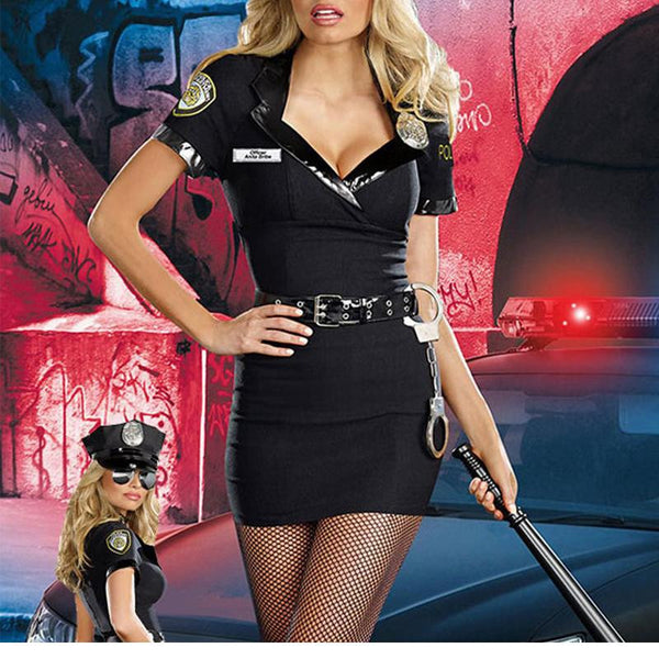 Black Police Traffic Cop Costume - Sins & Temptations