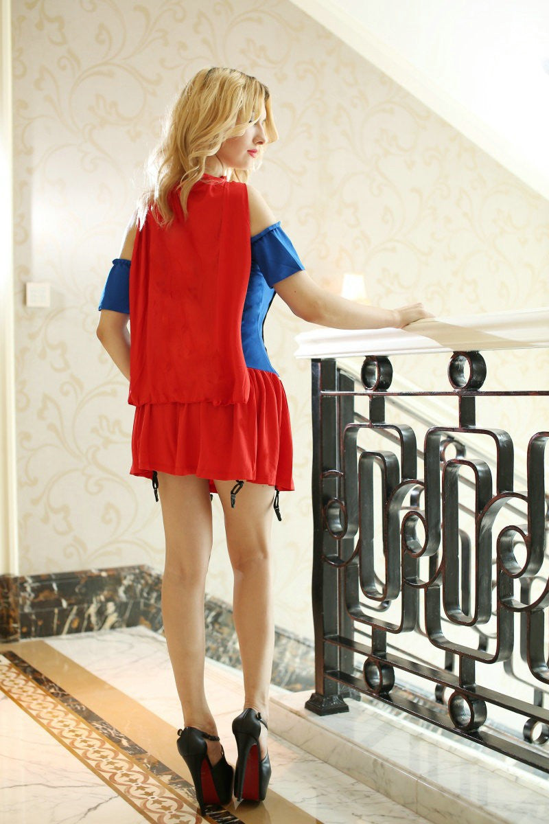 Superwoman Dress Halloween Costume - Sins & Temptations
