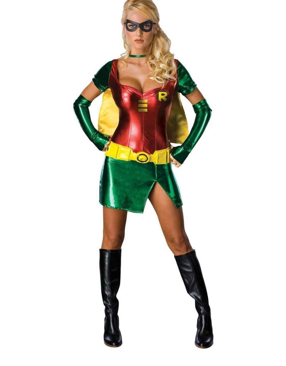 Sexy Vinyl Leather Halloween Batwomen Costume Dress - Sins & Temptations