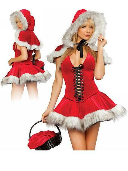 Plush Bubble Dress Red skirt Santa Costume Dress - Sins & Temptations