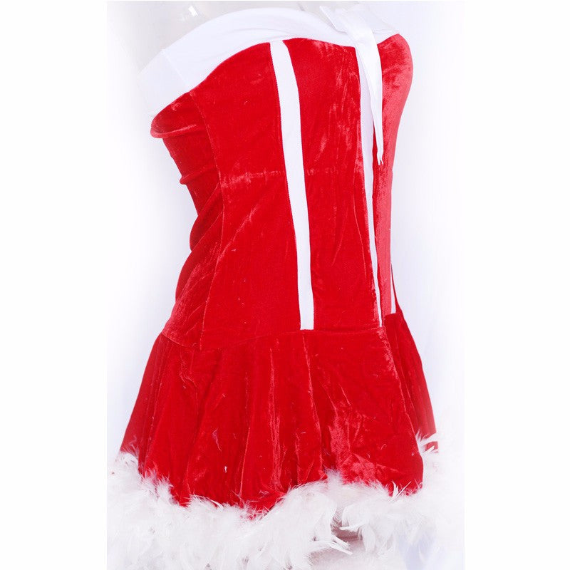 Santa Claus Costume red exotic fancy dress - Sins & Temptations